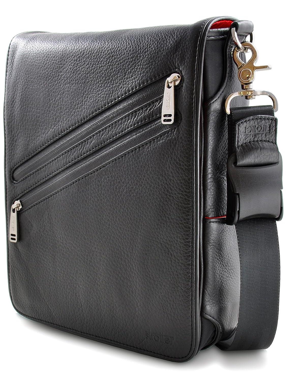 Amazon.com: PLATFORMA by Strotter: Luxury Leather Messenger Bag ...