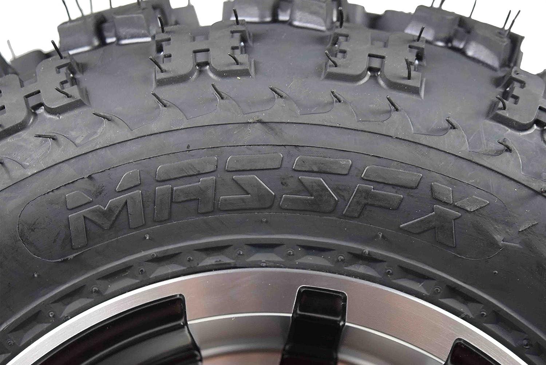 SET 4 YAMAHA Banshee 350 Machine MASSFX Rims /& MASSFX Tires Wheels kit rims