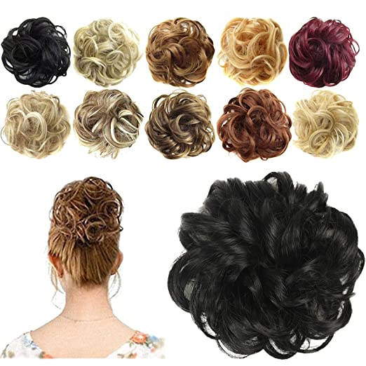 Amazon.com  FESHFEN Synthetic Hair Bun Extensions Messy Hair ... 152388196