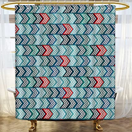 Amazon com: SCOCICI1588 Rust Metal Grommets Shower Curtain Arrows in
