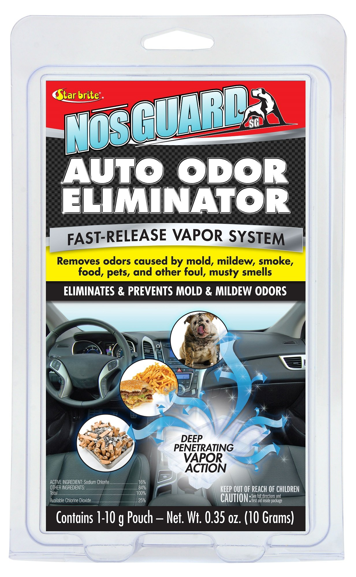 Star Brite NosGuard SG Auto Odor Eliminator - Fast-Release Vapor System