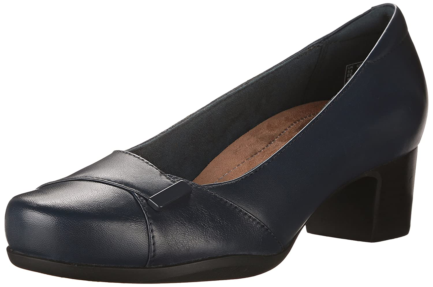 CLARKS Women's Rosalyn Belle B00T3IRGS4 12 2A - Narrow|Navy Leather