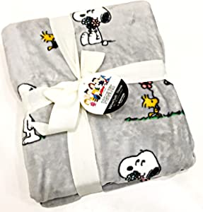 Peanuts Gang Snoopy & Woodstock Velvet Soft Polyester Plush Throw Blanket by Berkshire Blanket & Home Co. | 50