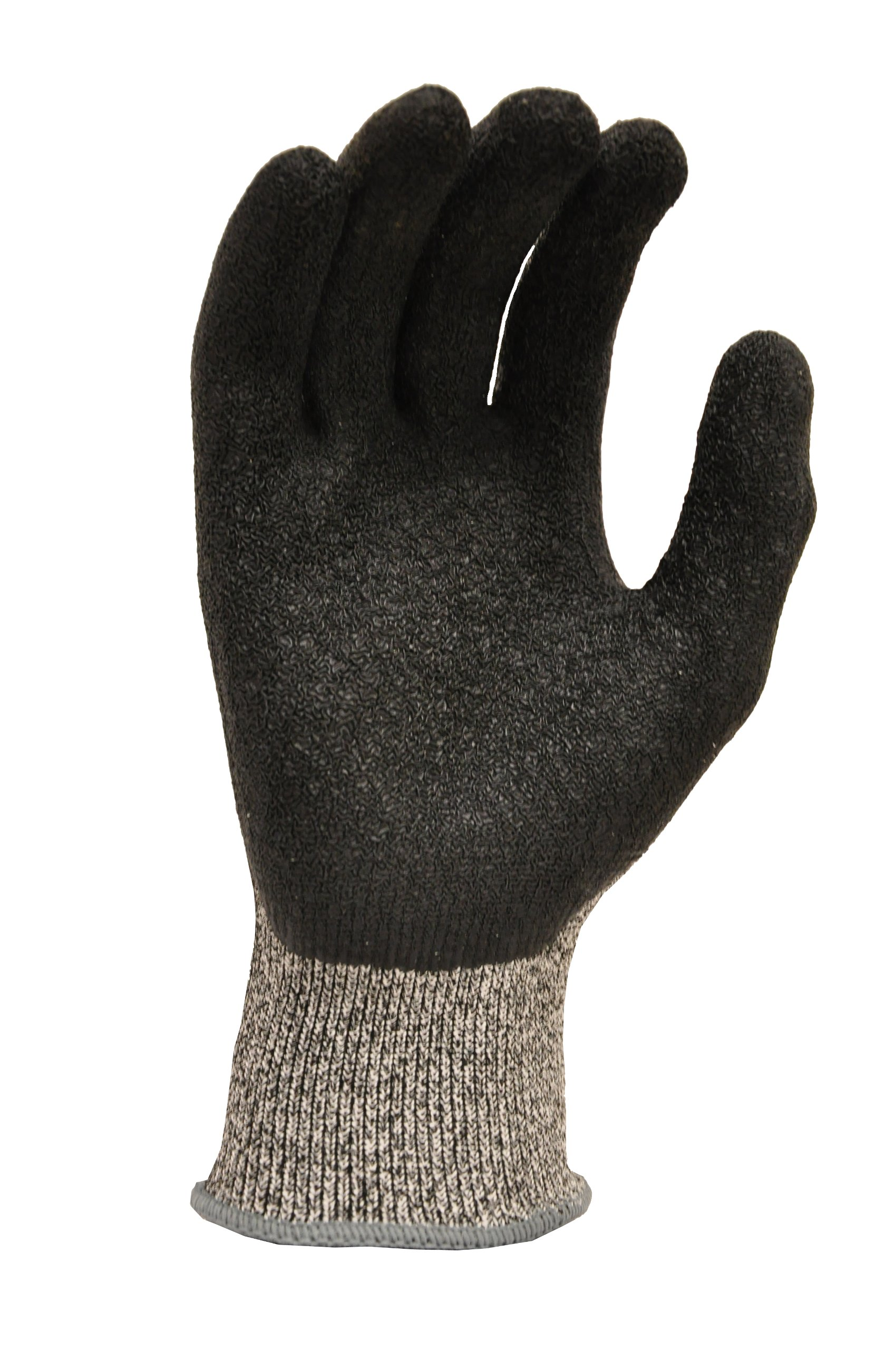 G & F 22600L CUTShield Cut Resistant Level 5 Work Gloves, Rubber Coated, grey, Large