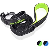 Extra Heavy Duty Dog Leash by Paw Lifestyles - 3mm Thick - 6ft Long, Soft Padded Handle For Comfort - Perfect Leash for Medium and Large Dogs