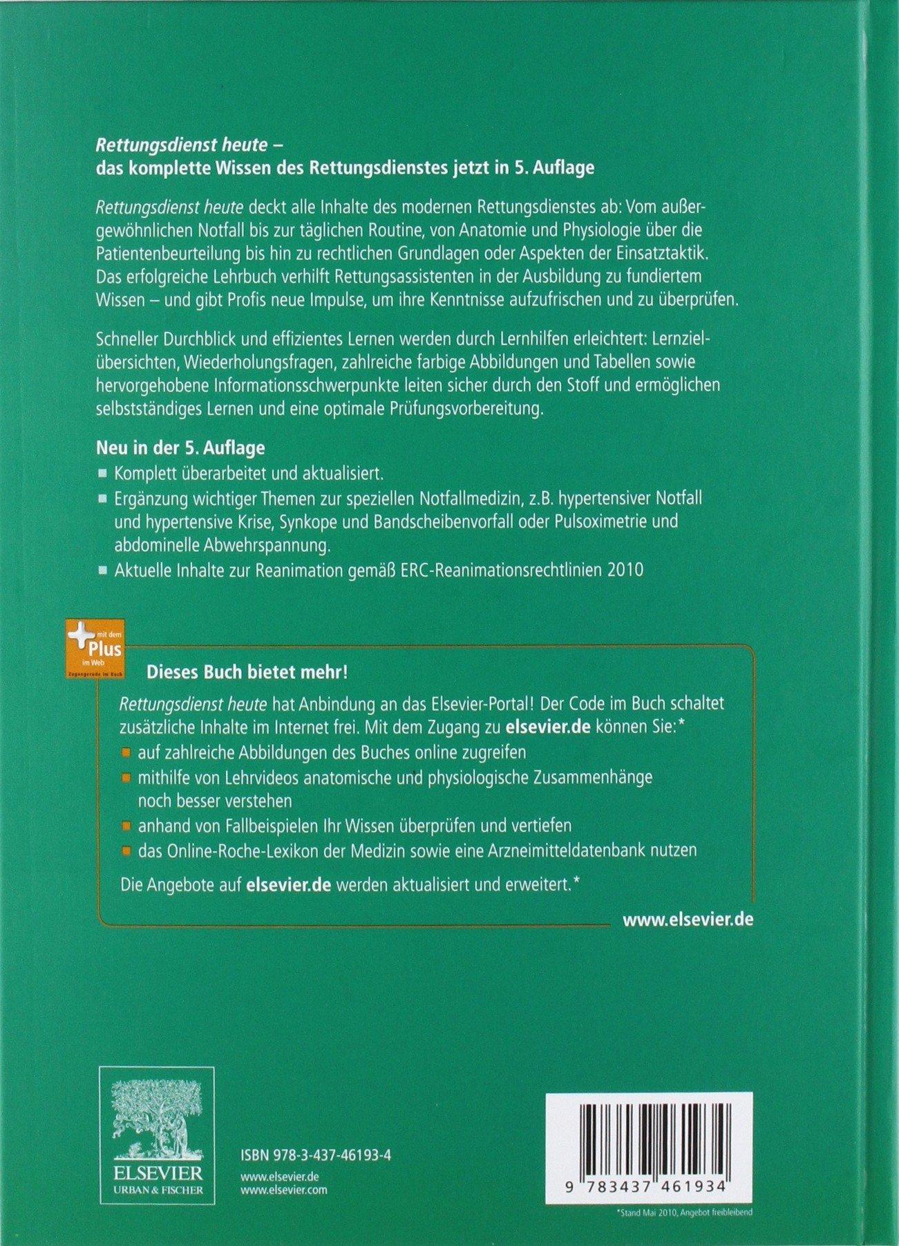 Rettungsdienst heute: mit Zugang zum Elsevier-Portal: Amazon.de ...