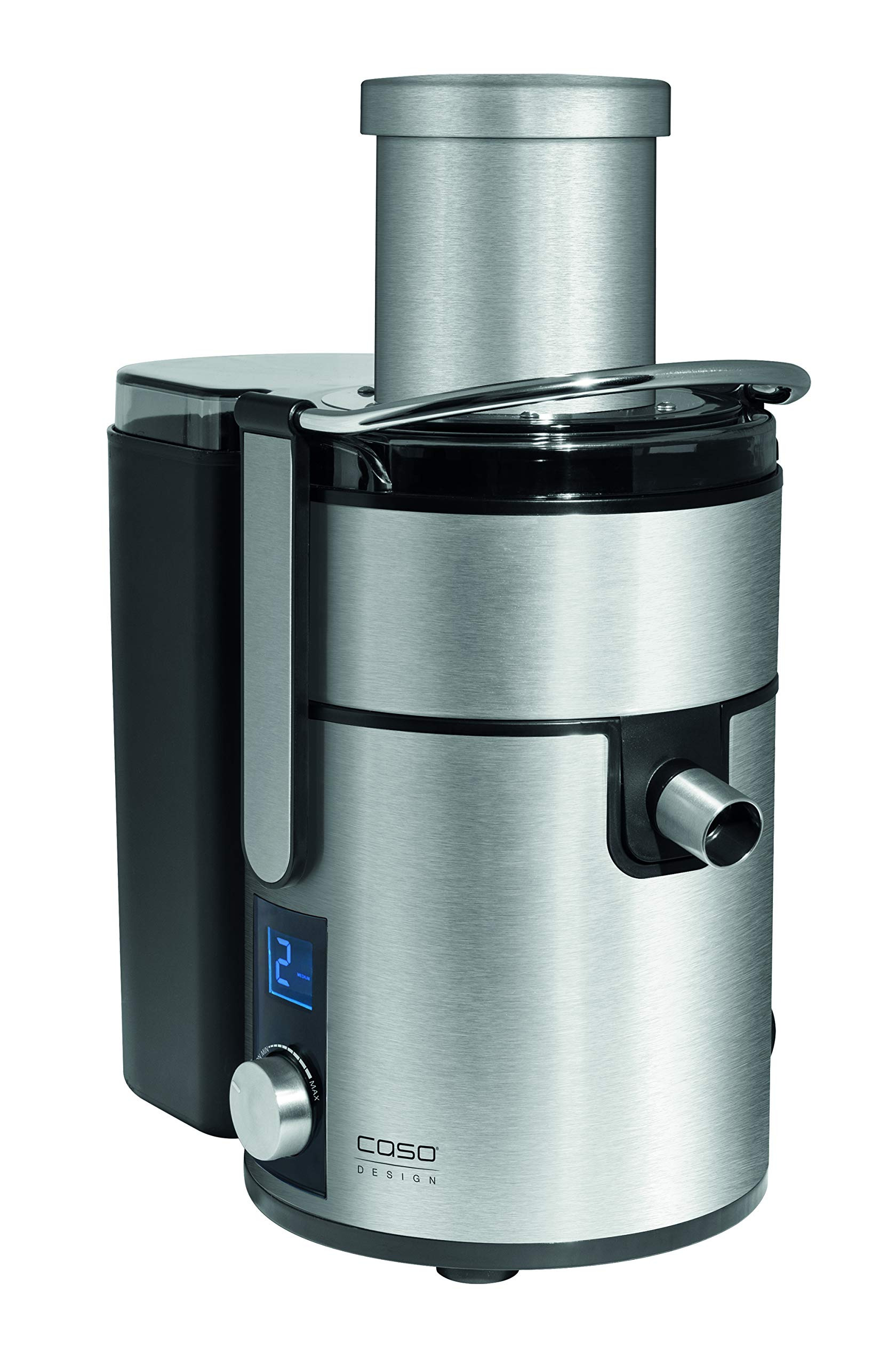 Caso Design PJ.1000 Slow Juicer with Dial Control, 1, Stainless