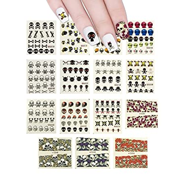 Amazon Allydrew 15 Sheets Skulls Water Slide Nail Art Decals