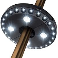 OYOCO Patio Umbrella Light 3 Brightness Modes Cordless 28 LED Lights at 200 lumens-4 x AA Battery Operated,Umbrella Pole…
