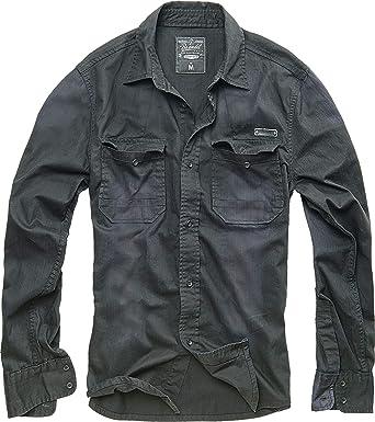 TALLA L. Brandit Hardee Denim Camisa
