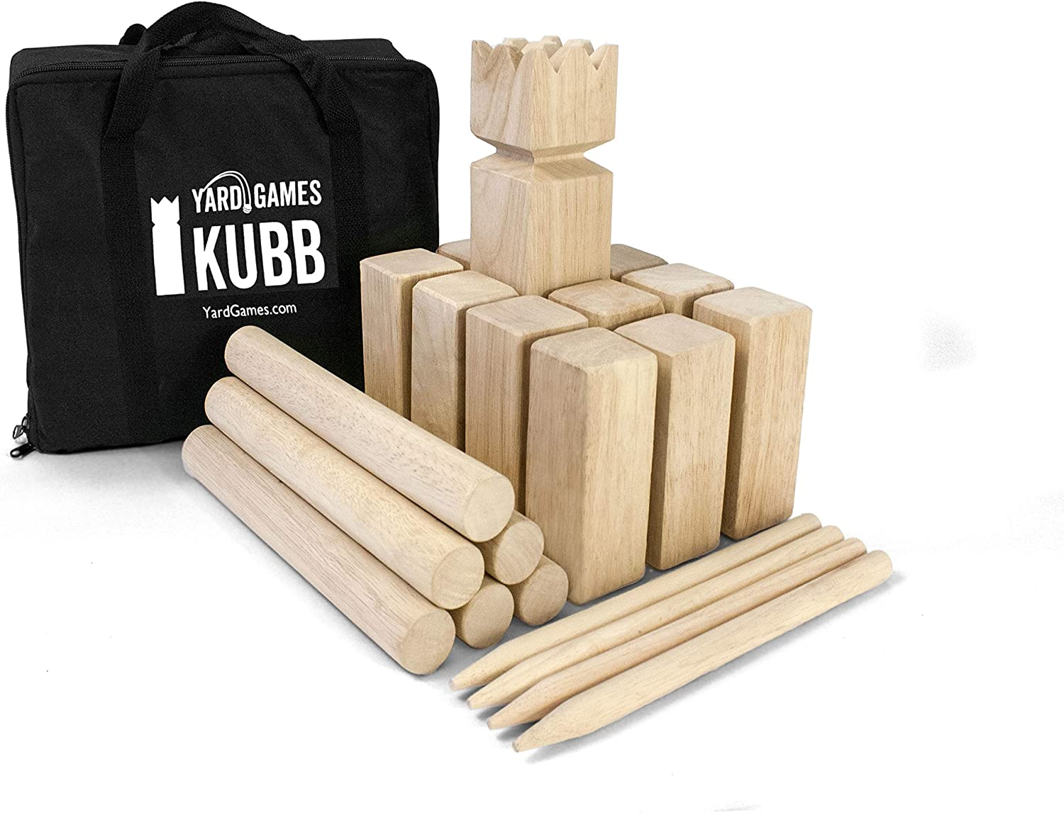 The Beach Lawn Outdoor Yard Tossing Family Game Viking Chess Clash Toss Yard Games with Carrying Bag for Outside Party Backyards Juegoal Kubb Backyard Game Set