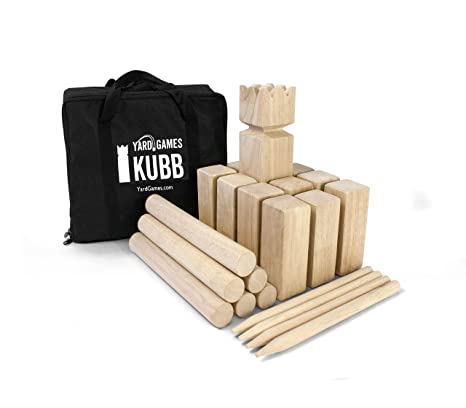 Amazon Yard Games Kubb Game Premium Set Toys Games Simple Lawn Game With Wooden Blocks