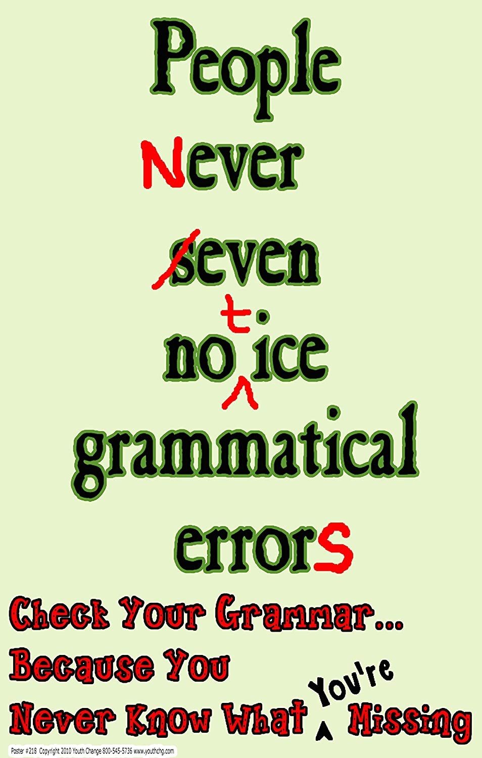 Grammar Wall Art Poster Common English Language Mistakes Wall Art Print Back to School Student Gift Idea English School Poster