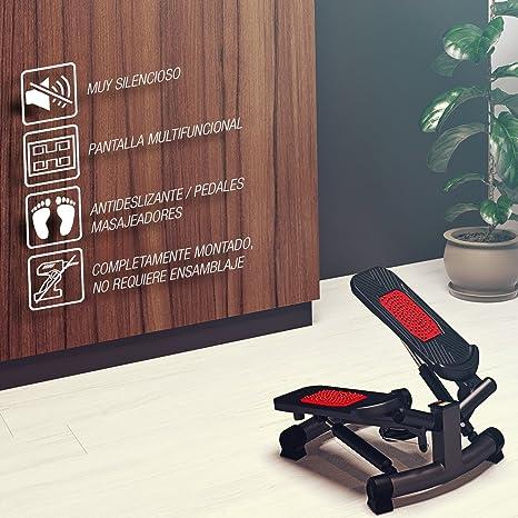 Sportstech Twister Stepper 2 en 1 Cuerdas de Resistencia - STX300 Escaladora y Swing Stepper para usuarios Principiantes y avanzados con Pantalla ...