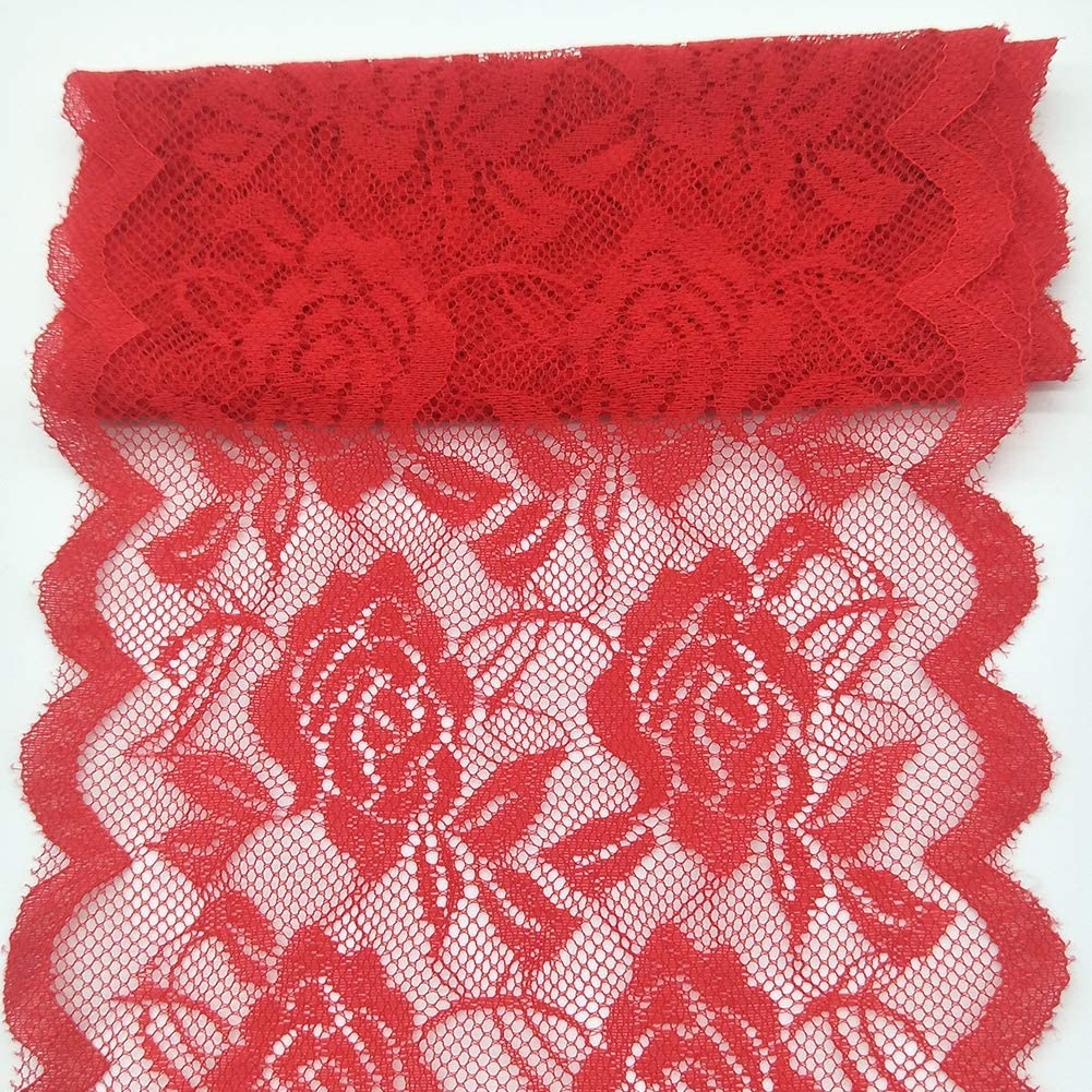 10Yards Lace Fabric 14CM//5.5 inches Wide Trim Lace Ribbon Red