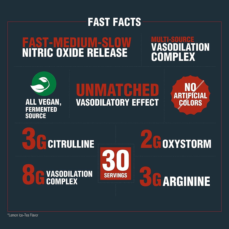 PROCEL® VASO-X Time-Release Nitric Oxide booster with Citrulline, Arginine  & Oxystorm® powder 300g (Lemon IceTea)
