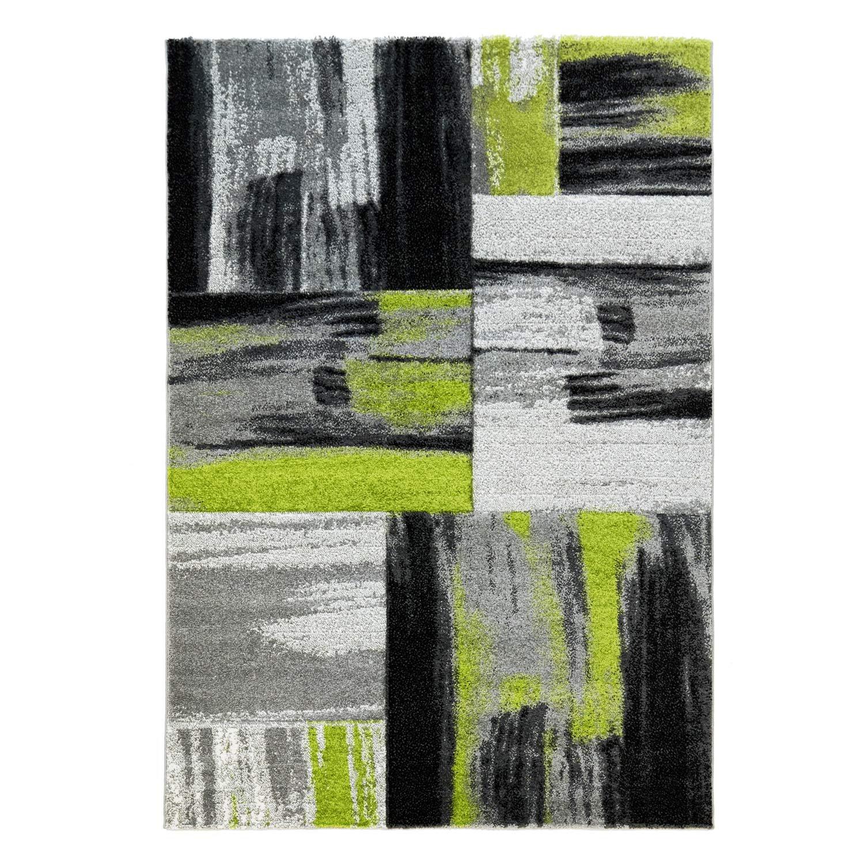 CC Hochwertiger Modern Designer Teppich Flachflor Modernes Design Swing Grün Grau, Größe in cm 200 x 290 cm