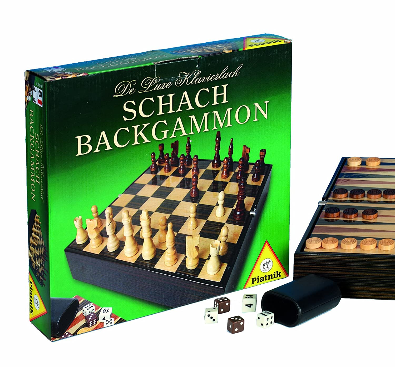 Piatnik 6391 - De Luxe Schach Backgammon