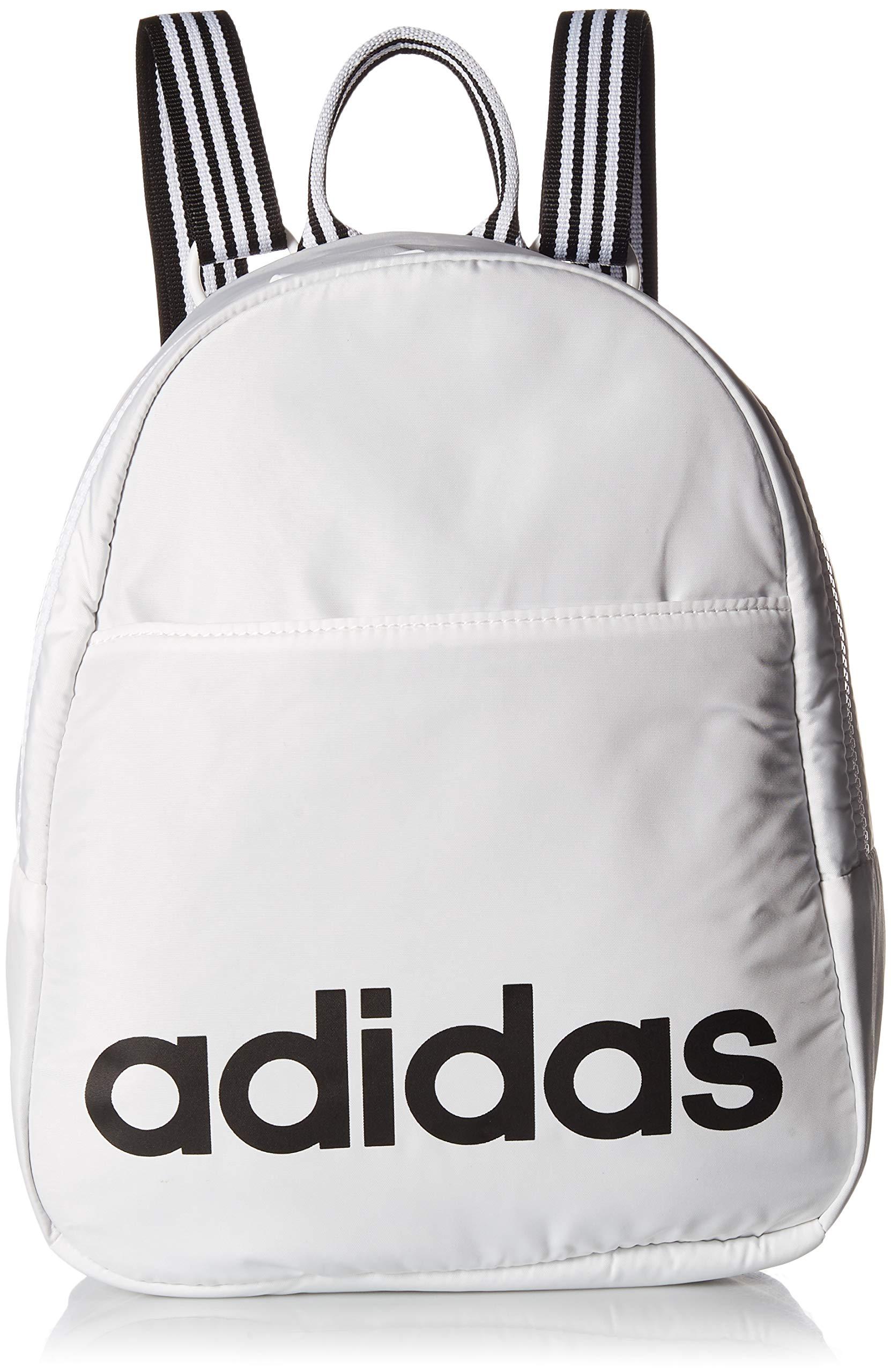 adidas Core Mini Backpack, White/Black, One Size