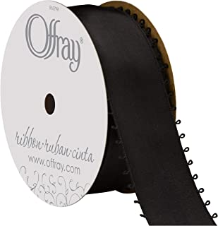 "product image for Offray Berwick 1.5"" Wide Double Face Satin Ribbon, Black, 10 Yds"