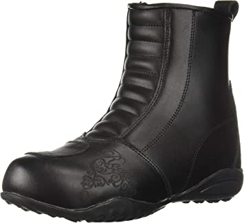 Joe Rocket Moto Adira Ladie/'s Women/'s Leather Riding Boots Black SZ 7