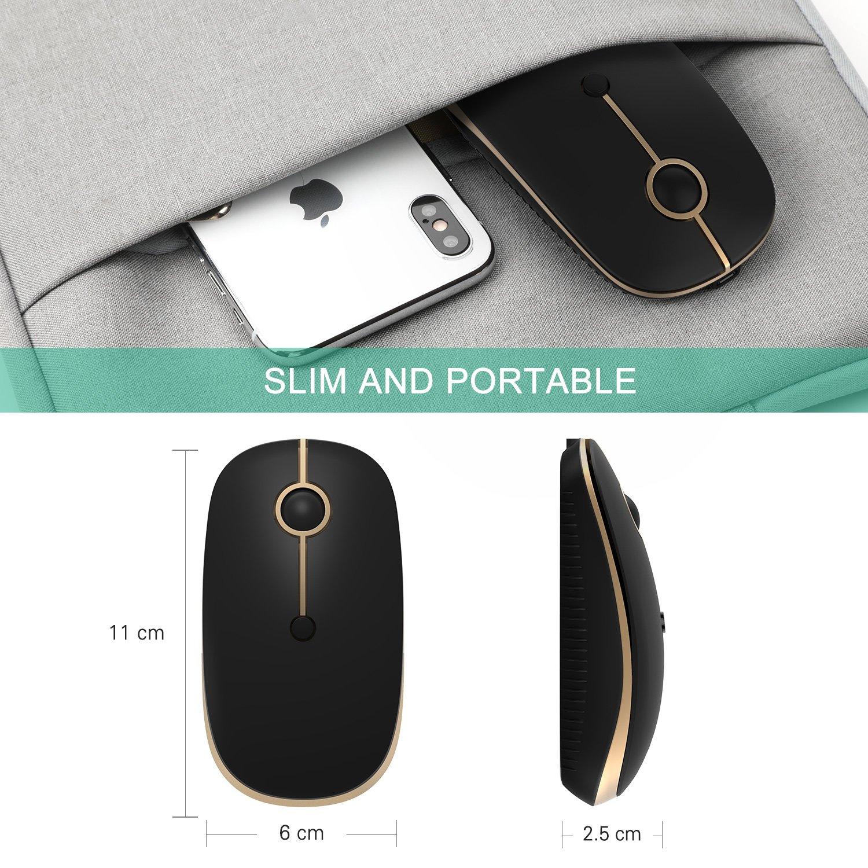Clic Preciso y Silencioso Jelly Comb Rat/ón Inal/ámbrico de 2,4 GHz con Receptor Nano para Ordenador Port/átil//Macbook//Tableta Blanco y Rosa