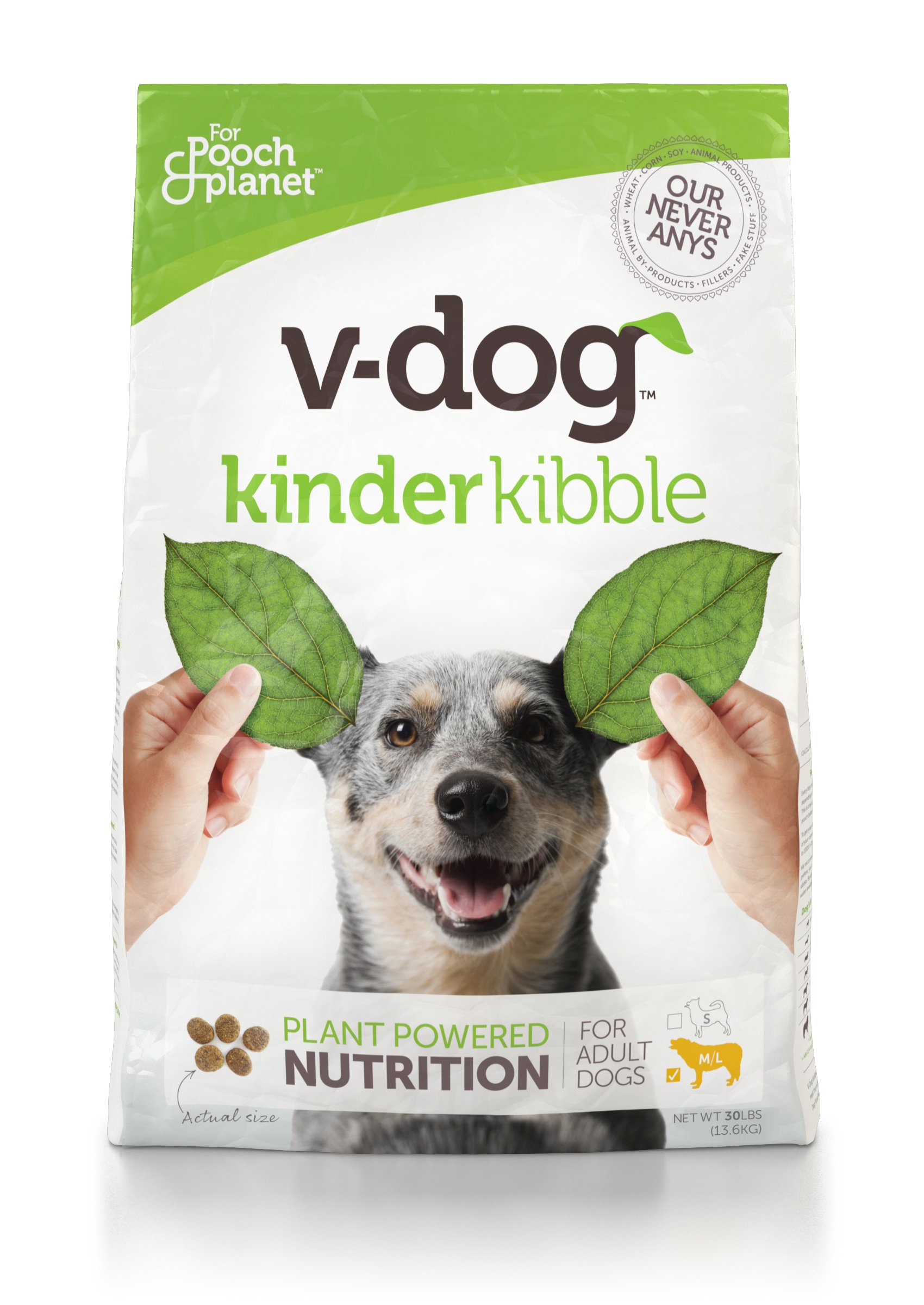 V-Dog Vegan Kibble Dry Dog Food, 30 Lb
