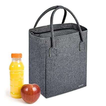 62c5b8c1c144 Vemingo Insulated Lunch Bag Cooler Lunch Tote Large Capacity Thermal Lunch  Box for Women Men Adults Kids, 10.1 x 8.6 x 5.5 IN