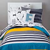 Loreto 144 TC 100% Cotton Stripe Single Bedsheet with 1 Pillow Cover, Multi Colour