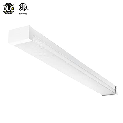 Parmida led 4ft prismatic linear wraparound fixture 40w 100w image unavailable mozeypictures Gallery