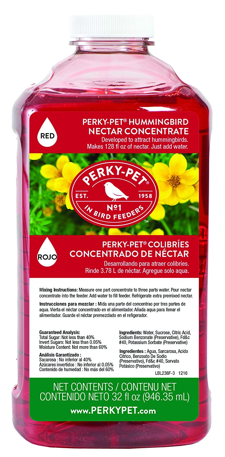 Perky-Pet 238 Hummingbird Nectar, 32-Ounce Concentrate Perky Pet 100056728