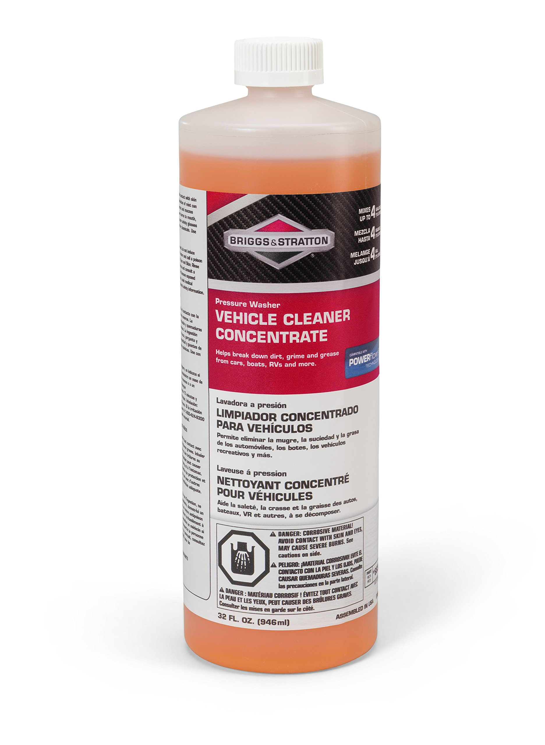 Briggs & Stratton Power Products 6830 Vehicle Cleaner Pressure Washer Concentrate, 32 oz