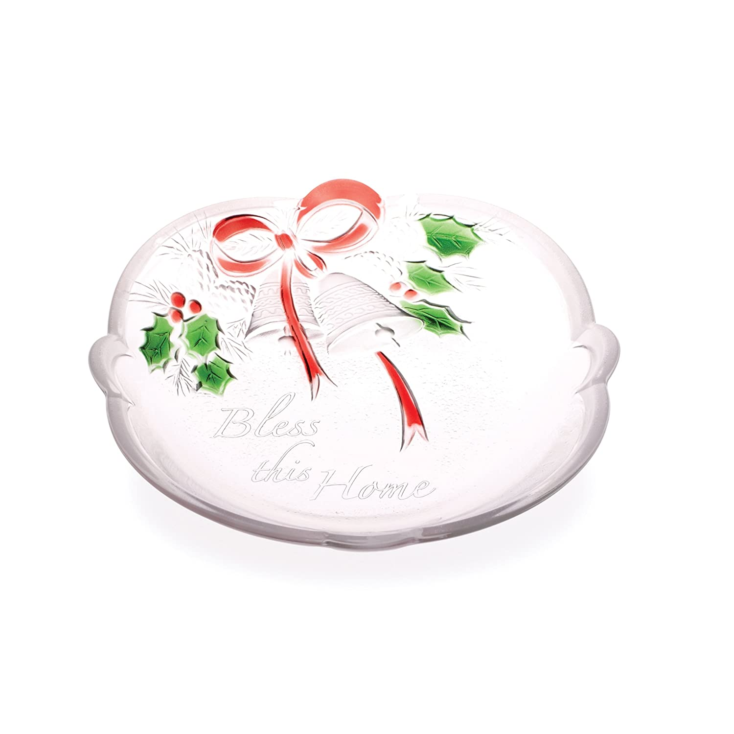 Celebrations by Mikasa Holiday Bells 'Bless this Home' Sweet Dish, 7-Inch 5084858
