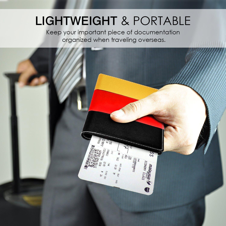 Gl/ück Baum Ausweis und Reisedokumente MoKo RFID-Schutz Reisepassh/ülle 7,0 Zoll Premium Kunstleder Passport H/ülle Schutzh/ülle f/ür Kreditkarten