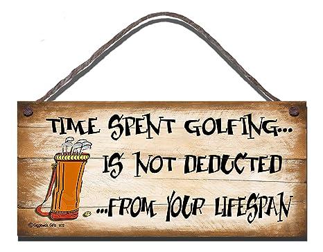 Diseño con texto en inglés carcasa de madera con texto en inglés de golf no es