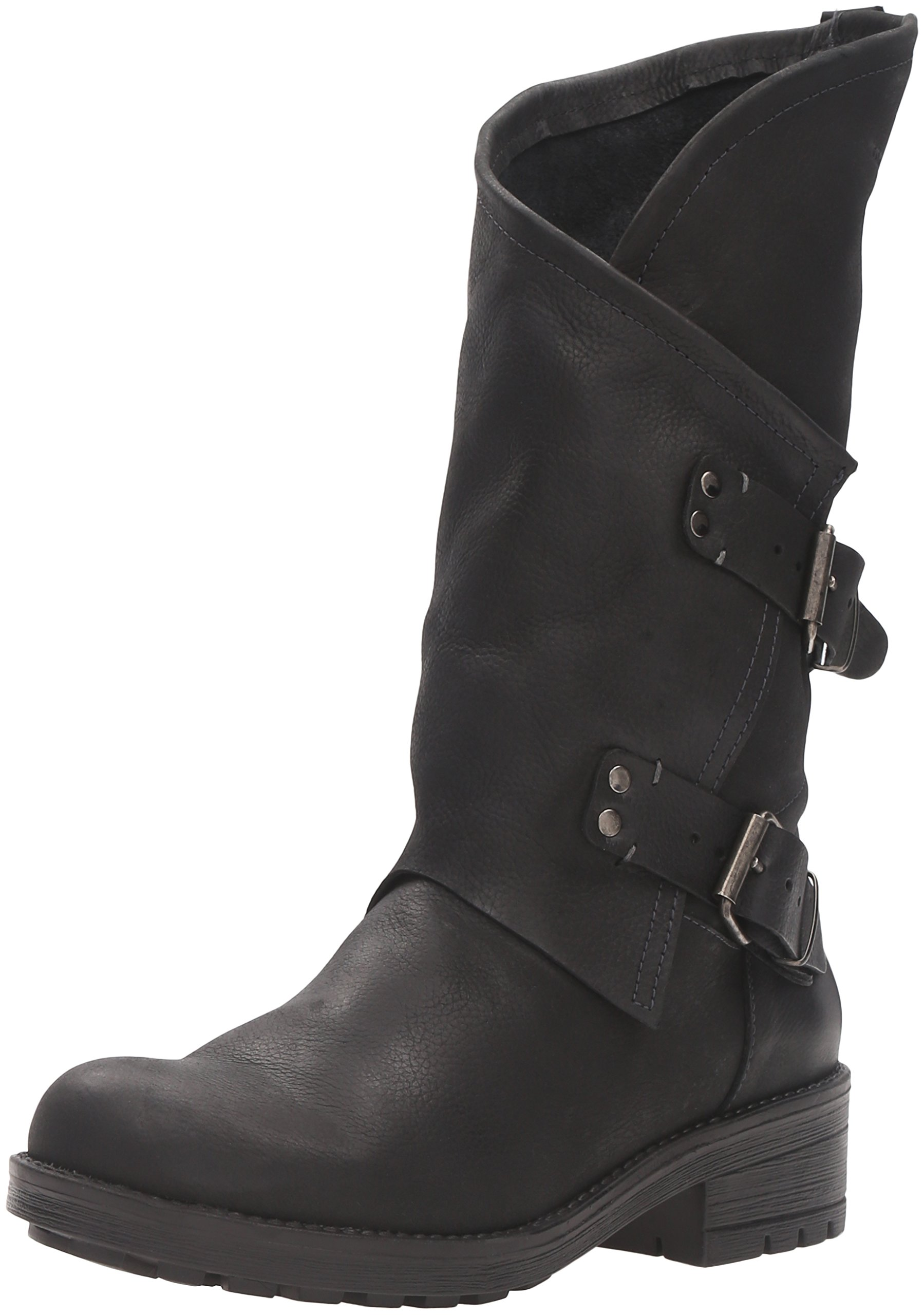 Coolway Women's Alida Motorcycle Boot, Black, 39 EU/8-8.5 M US