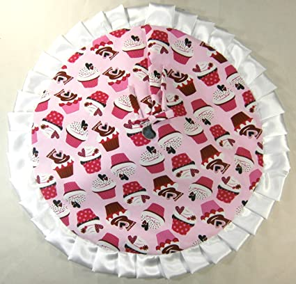 Amazon Com Small Tabletop Valentine S Day Tree Skirt 24 Pink
