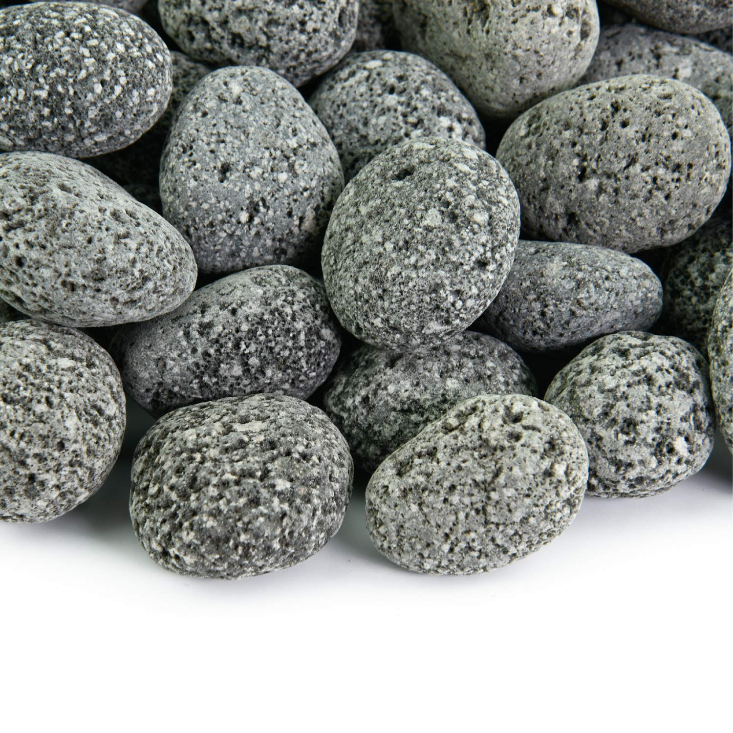 Black 1 Inch - 2 Inch Fire Rock | Fireproof and Heatproof Round Pebbles for Indoor or Outdoor Gas Fire Pits and Fireplaces - Natural, Hand-Picked Stones | 10 Pounds