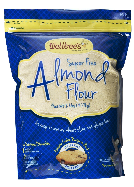 Harina / polvo de almendras blanqueadas súper finas de Wellbee 2 lb.