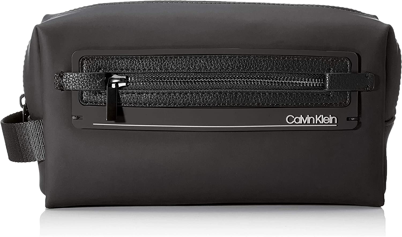 Calvin Klein - Moulded Washbag, Fundas de carnés Hombre, Negro (Black), 0.1x0.1x0.1 cm (W x H L)