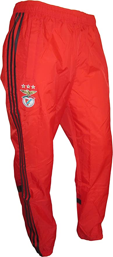 adidas Pantalon de pluie/jogging/survêtement Benfica Lissabon [Taille L]  Rouge F84343