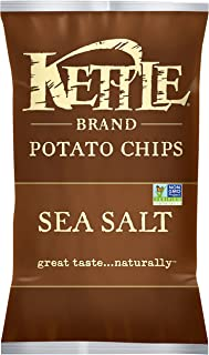 product image for Kettle Brand Potato Chips, Sea Salt, 5.0 Oz. Bag (15 Count)