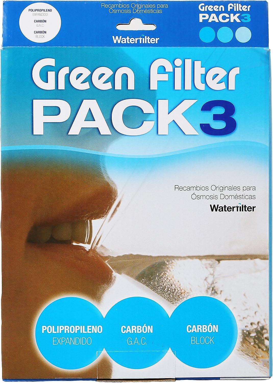 Pack 3 Filtros Ósmosis Inversa, Filtro Ósmosis 3 etapas, Estándar, Profesional, Garantizado, Compatible con Todos los Sistemas de ósmosis con Vasos del Mercado: Amazon.es: Hogar