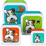 TUM TUM Nesting Children's Snack Boxes, Set of 4, Scruff