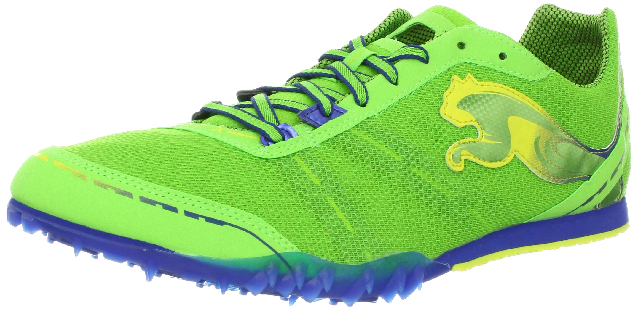 PUMA Men's TFX Distance V4 Track Shoe,Jasmine Green/Monaco Blue/Fluorescent,13 D US