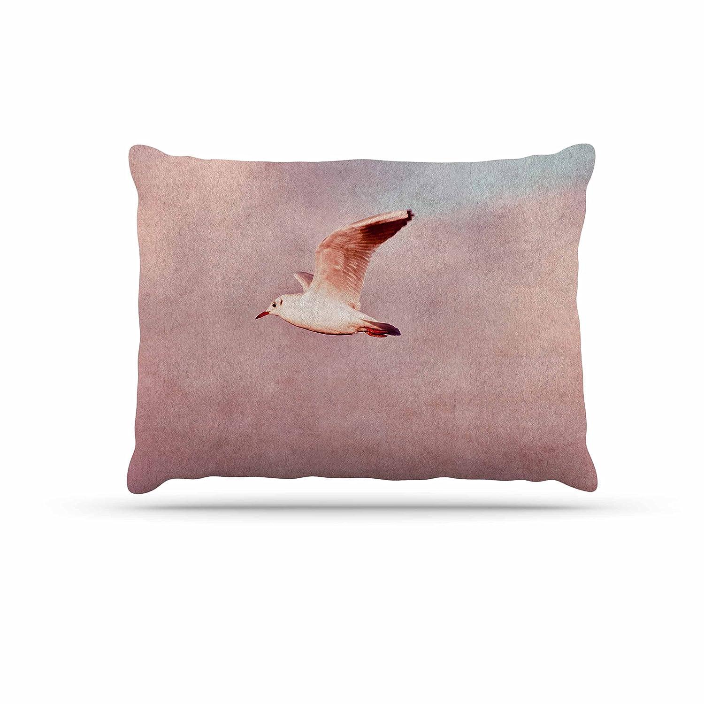KESS InHouse Iris Lehnhardt Rosy Sky Pink Floral Dog Bed, 50  x 40