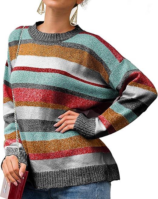 Damen Spitze Strickpullover Sweater Langarm Pullover Pulli Sweatshirt Oberteil