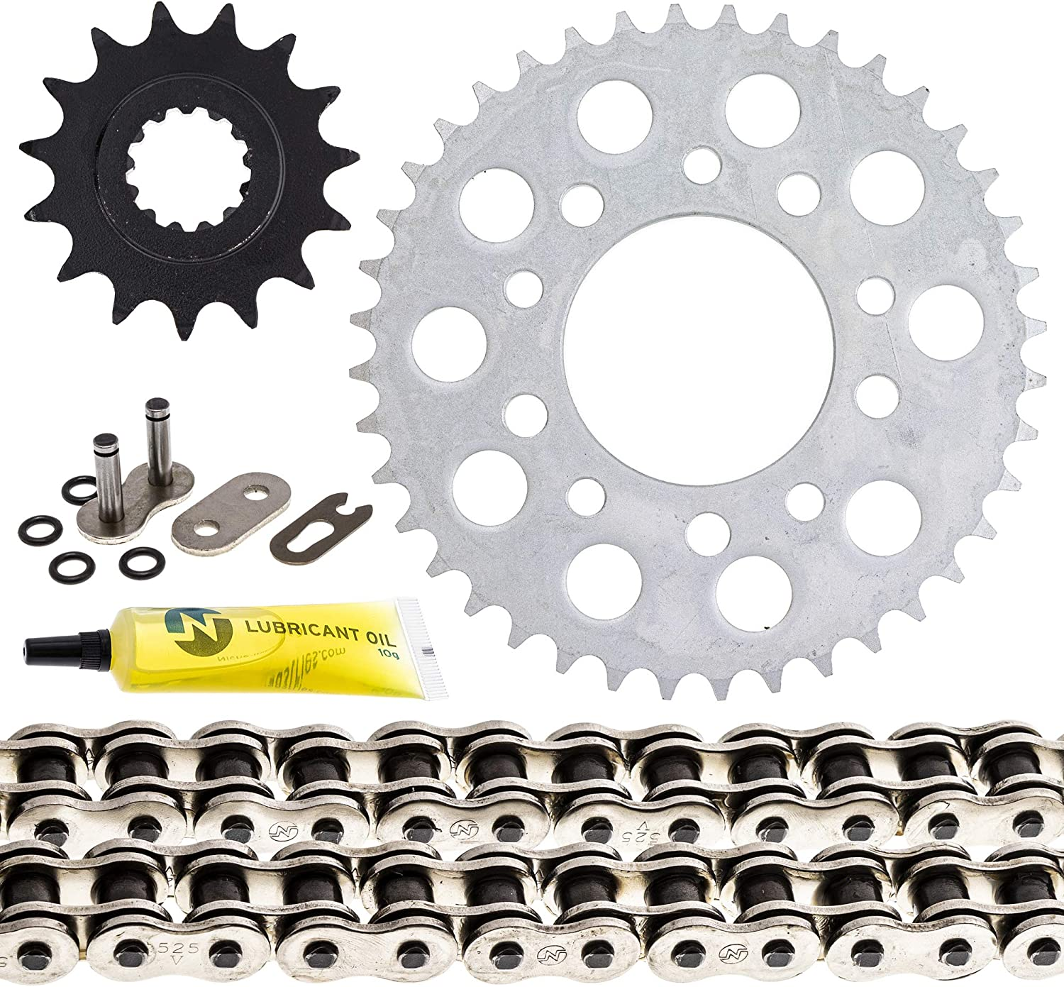 NICHE Drive Sprocket Chain Combo for Honda CB750 Front 15 Rear 40 Tooth 525HZ Standard 112 Links