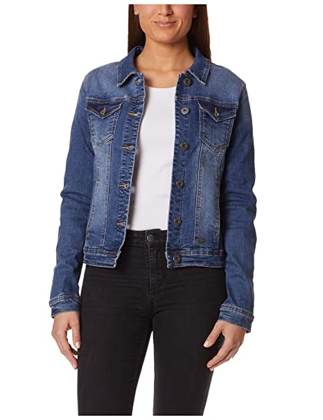 Blu Scuro Donna Trattamento Da Con Di 34 Jeans Berydale Giacca Tendenza pwxfSqnT7