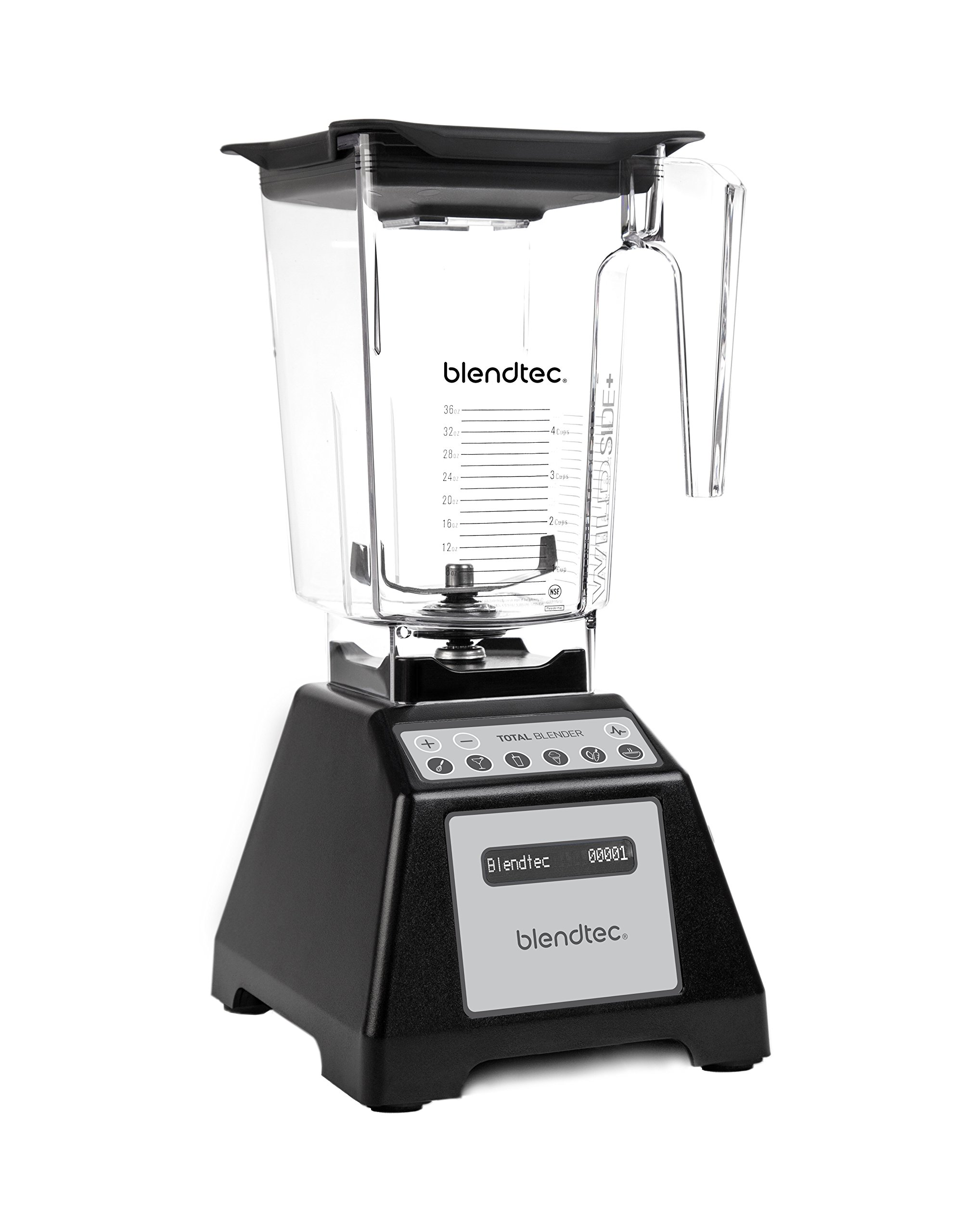 Blendtec TB-621-25 Total Blender Classic with WildSide+ Jar, Black (Certified Refurbished)